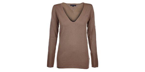 Dámsky béžový sveter Tommy Hilfiger 751fb9081a