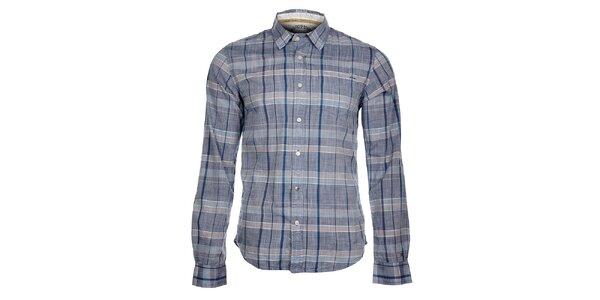 5046dc1582bc Pánska svetlo modrá kockovaná košeľa Tommy Hilfiger