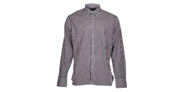 f68dbe25efdc Pánska biela prúžkovaná košeľa Tommy Hilfiger