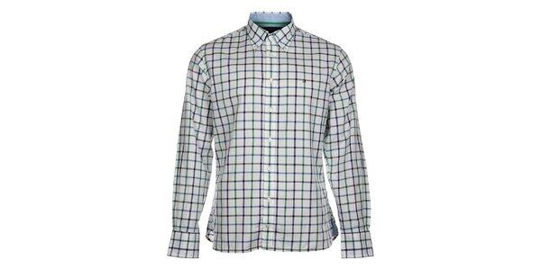 Pánska biela kockovaná košeľa Tommy Hilfiger