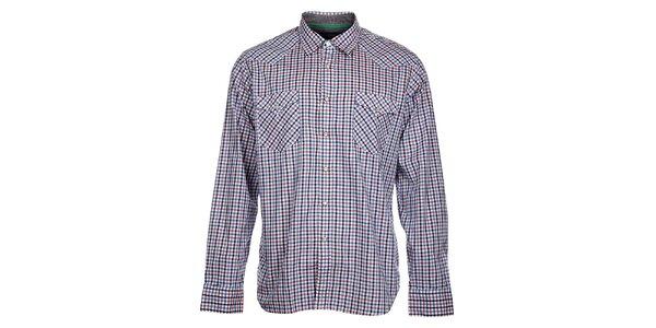 Pánska modro-ružová kockovaná košeľa Tommy Hilfiger