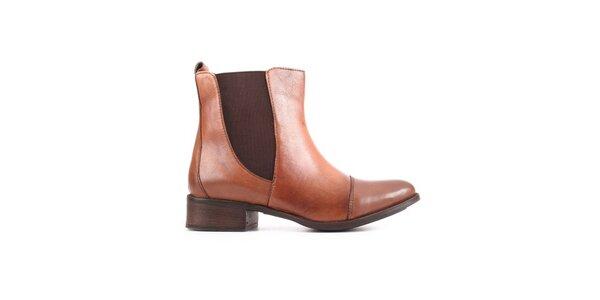 Dámske béžové chelsea topánky City Shoes