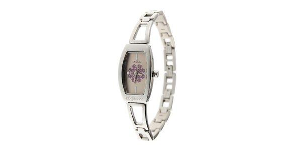 Dámske ocelové hodinky Oxbow s jemne ružovým ciferníkom