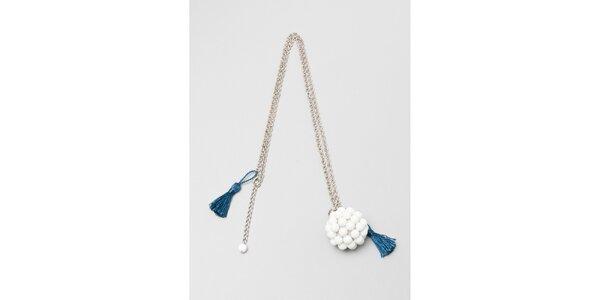 Dámsky strieborný náhrdelník s bielym príveskom Pietro Filipi