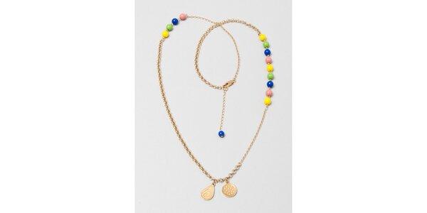 Dámsky náhrdelník s farebnými korálkami Pietro Filipi