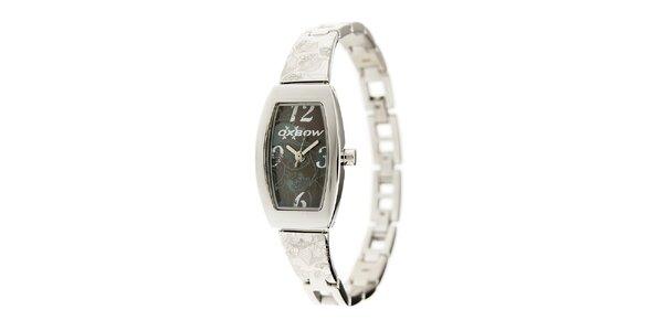 Dámske ocelové hodinky Oxbow s čiernym ciferníkom