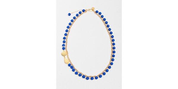 Dámsky náhrdelník s modrými korálkami Pietro Filipi