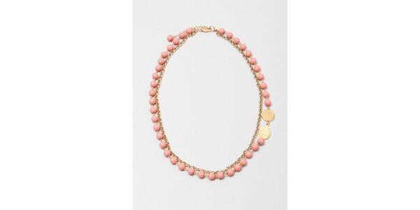 Dámsky náhrdelník s ružovými korálkami Pietro Filipi