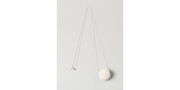 Dámsky strieborný náhrdelník s bielou guličkou Pietro Filipi