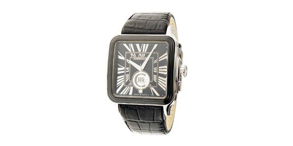 Pánske hodinky Cerruti 1881 s čiernym koženým remienkom