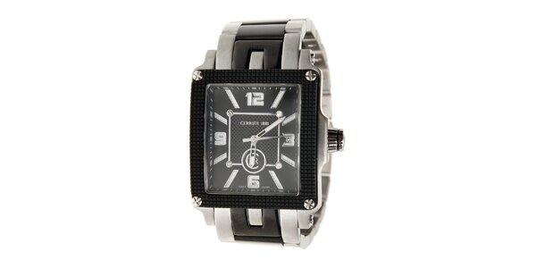 Pánske čierno-strieborné hodinky Cerruti 1881