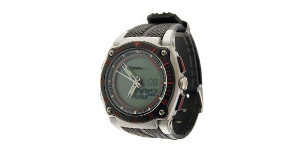 Pánske športové hodinky Oxbow s čiernym pryžovým remienkom