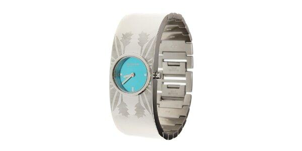 Dámske ocelové hodinky Oxbow s azúrovo modrým ciferníkom