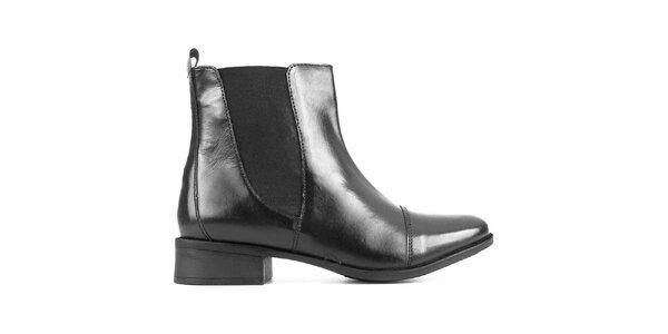 Dámske čierne chelsea topánky City Shoes