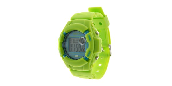 Pánske svetlo zelené digitálne hodinky Oxbow