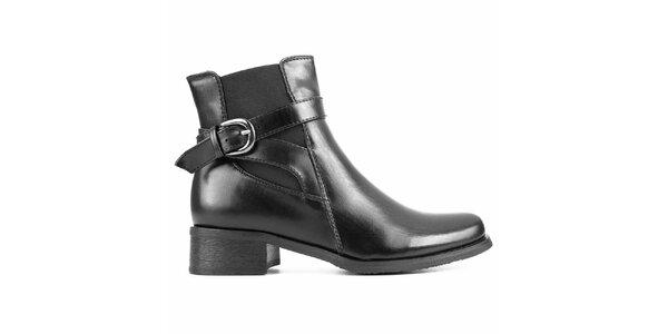 Dámske čierne chelsea topánky s prackou City Shoes