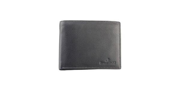 Čierna kožená peňaženka Brooksfield