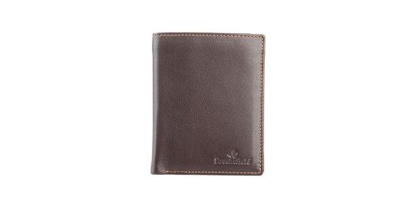 Hnedá obdĺžniková prešívaná peňaženka Brooksfield