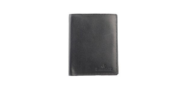 Čierna obdĺžniková prešívaná peňaženka Brooksfield