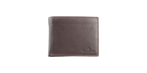 Prešívaná hnedá peňaženka Brooksfield