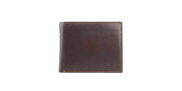 Prešívaná hnedá peňaženka s vreckom na mince Brooksfield