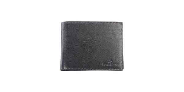 Prešívaná čierna peňaženka s vreckom na mince Brooksfield