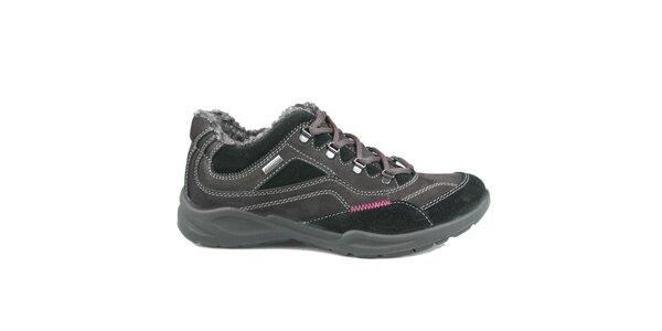 Dámske šedo-čierne športové topánky Numero Uno