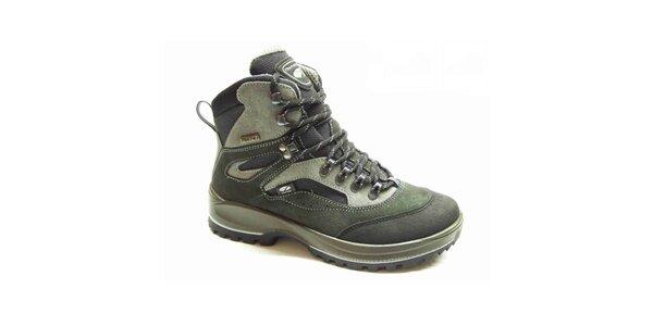 Pánske šedo-zelené trekové topánky Numero Uno