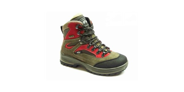 Dámske červeno-zelené trekové topánky Numero Uno