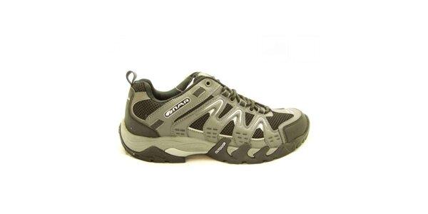 Pánske šedo-čierne trekové topánky Numero Uno