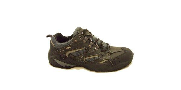 Pánske čierno-šedé trekové topánky Numero Uno