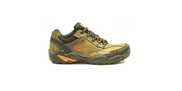 Pánske nízke trekové topánky s oranžovými detailmi Numero Uno