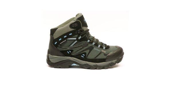 Dámske členkové trekové topánky s modrými detailmi Numero Uno