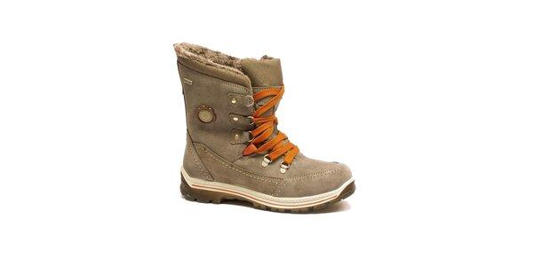 Dámske béžové šnurovacie topánky Numero Uno