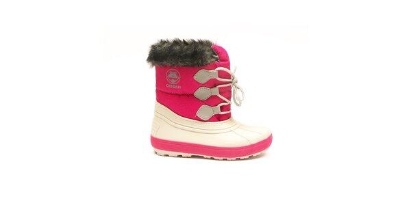 Detské zimné ružovo-biele topánky Numero Uno