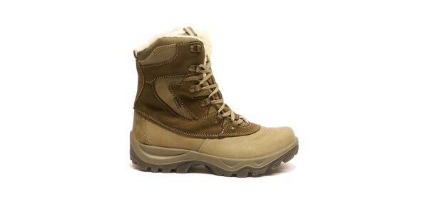 Dámske béžovo-hnedé šnurovacie topánky Numero Uno