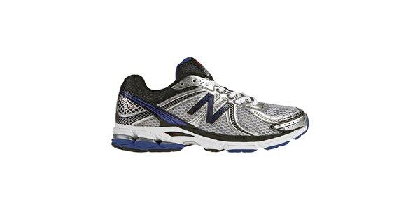 Pánske strieborno-fialové tréningové topánky New Balance