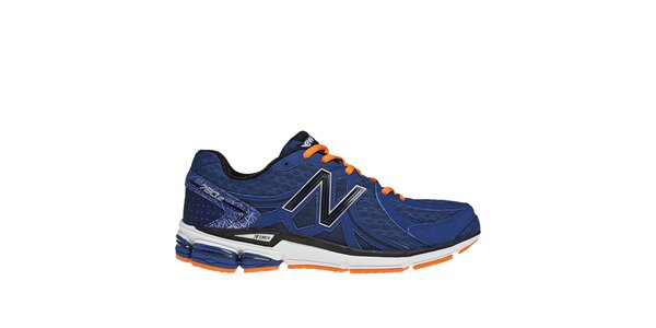 Pánske modré bežecké topánky s oranžovými detailmi New Balance