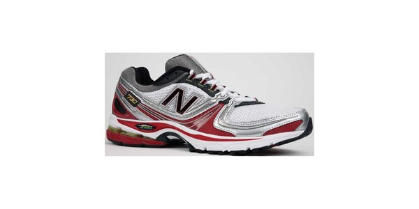 Pánske červeno-biele bežecké topánky New Balance