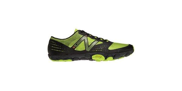 Pánske čierno-zelené bežecké topánky New Balance