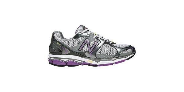 Dámske fialovo-strieborné bežecké topánky New Balance