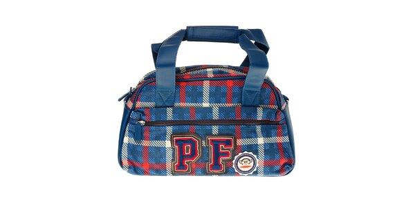 Modrá kockovaná kabelka Paul Frank