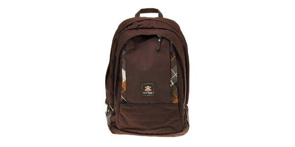 Tmavo hnedý batoh Paul Frank