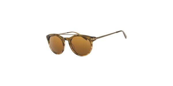 Pánske hnedé guľaté slnečné okuliare Michael Kors