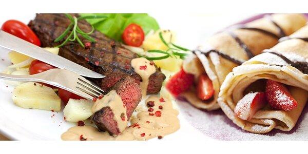 Steak a palacinky pre DVOCH
