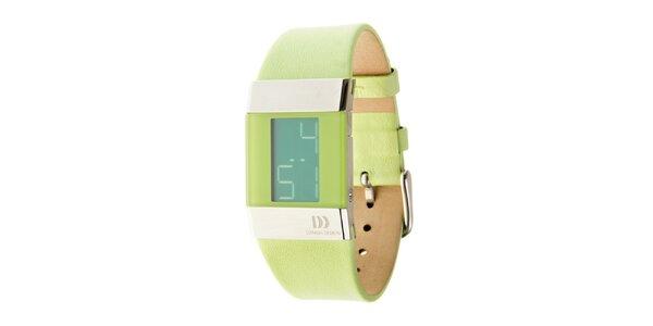 Dámske svetlo zelené digitálne hodinky Danish Design