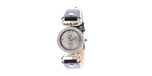 Dámske náramkové hodinky Royal London s kamienkami