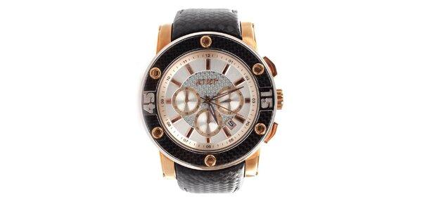 Dámske analógové hodinky Jet Set s detailmi vo farbe ružového zlata