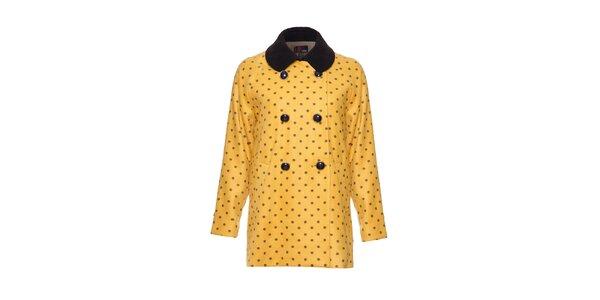 Dámsky žltý bodkovaný kabát Yumi