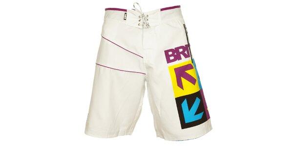 Pánske biele kúpacie šortky British Knights s farebným vzorom